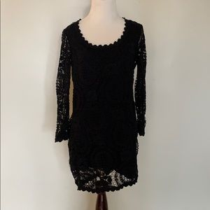 French Connection Black Lace Dress